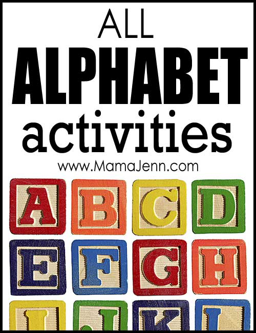 All ABC Alphabet Activities (by Letter) on Mama Jenn