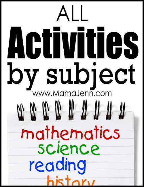 All Educational Activities (by Subject) on Mama Jenn