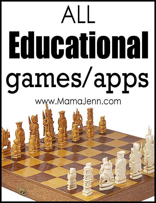 All Educational Games & Apps on Mama Jenn