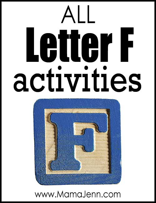 All Letter F Alphabet Activities