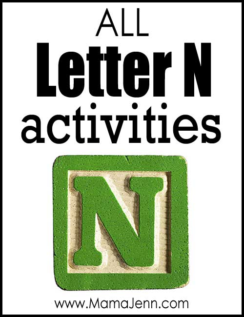 All Letter N Alphabet Activities
