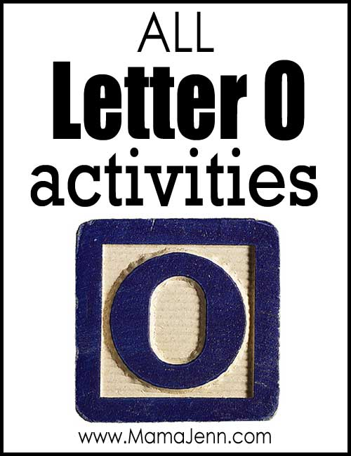 All Letter O Alphabet Activities