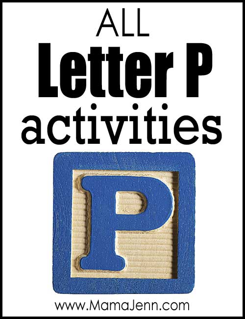 All Letter P Alphabet Activities