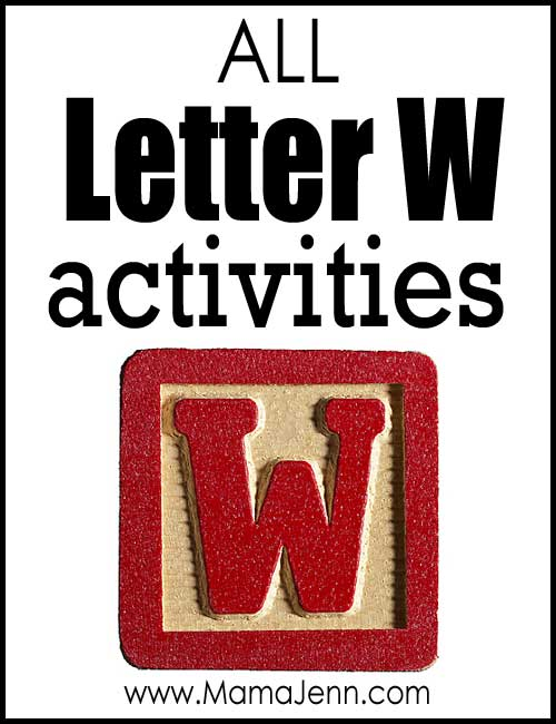 All Letter W Alphabet Activities