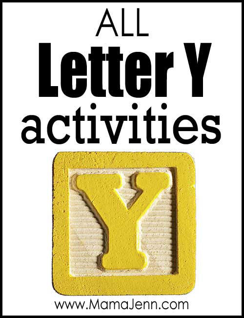 All Letter Y Alphabet Activities