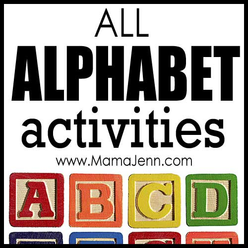 All Alphabet Activities (by letter)