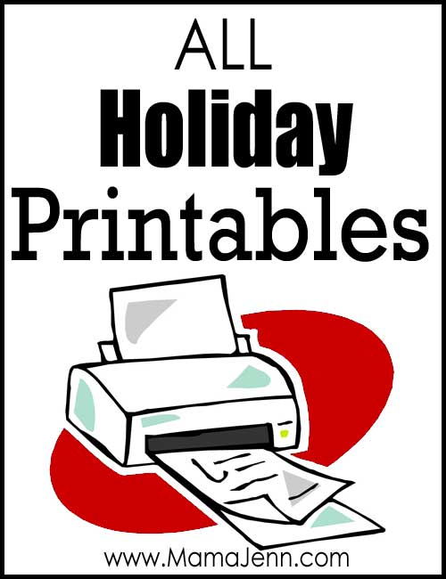 All Holiday Printables