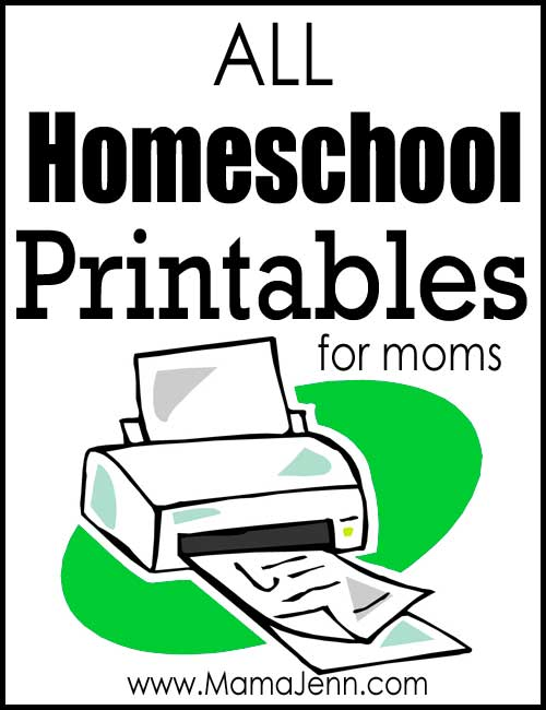 All Homeschool Printables