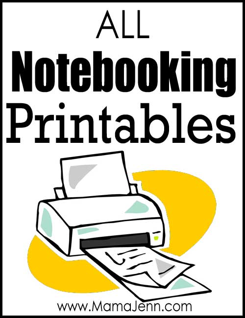All Notebooking Printables