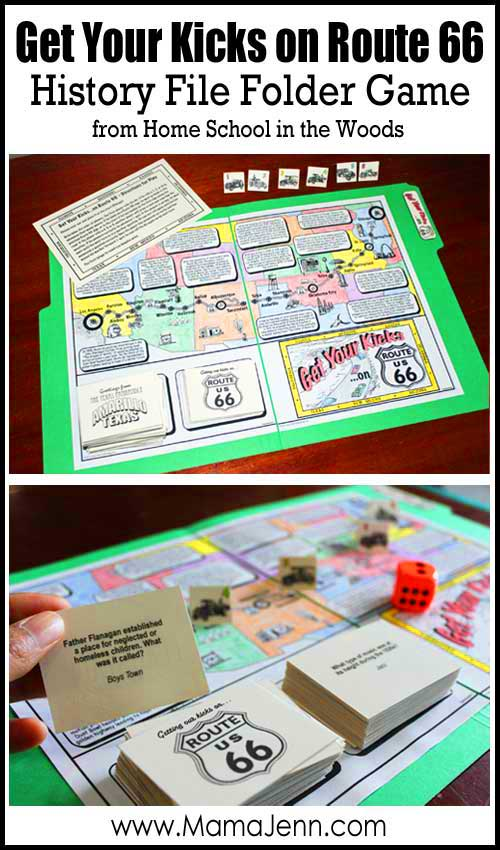 Get Your Kicks on Route 66 File Folder Game