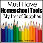 Must Have Homeschool Supplies