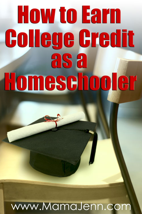 "a graduation cap and diploma sitting on a chair with text overlay ""How to Earn College Credit as a Homeschooler"""