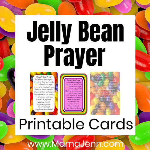 The Jelly Bean Prayer (FREE printable cards)