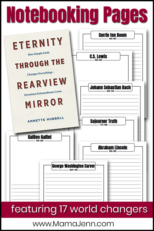 Eternity through the Rearview Mirror book and notebooking pages