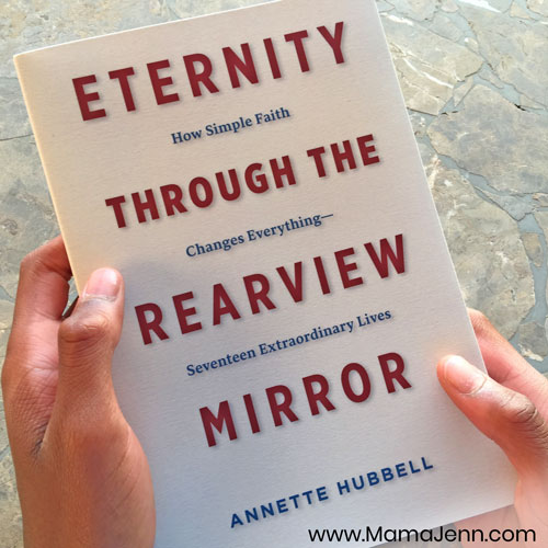 hands holding Eternity through the Rearview Mirror book