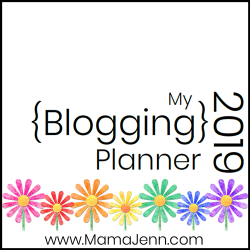 2019 Blogging Planner graphic