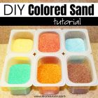 colored sand with text overlay DIY Colored Sand Tutorial