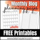 blog planning pages