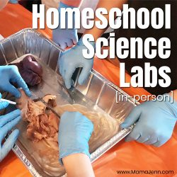 Biology lab dissection with text overlap Homeschool Science Labs