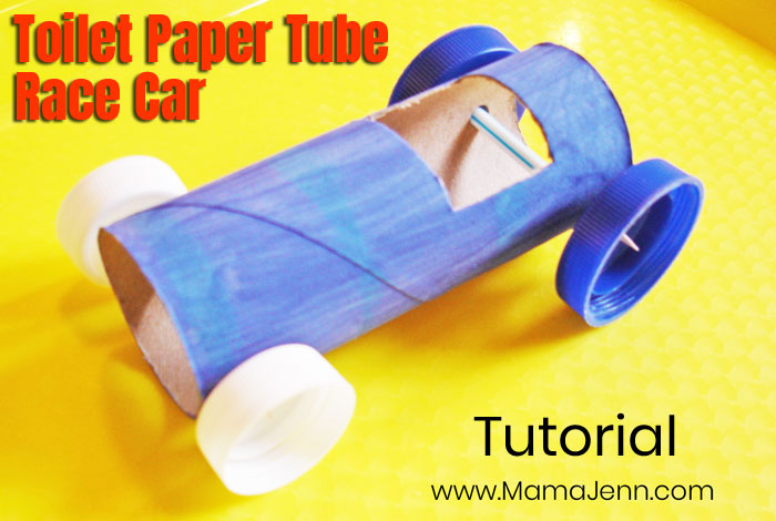 Toilet Paper Tube Race Car Craft Tutorial Step 5