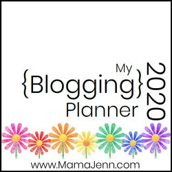 colorful daisies with text overlay My 2020 Blogging Planner