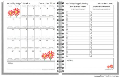 2020 Blogging Planner Printables