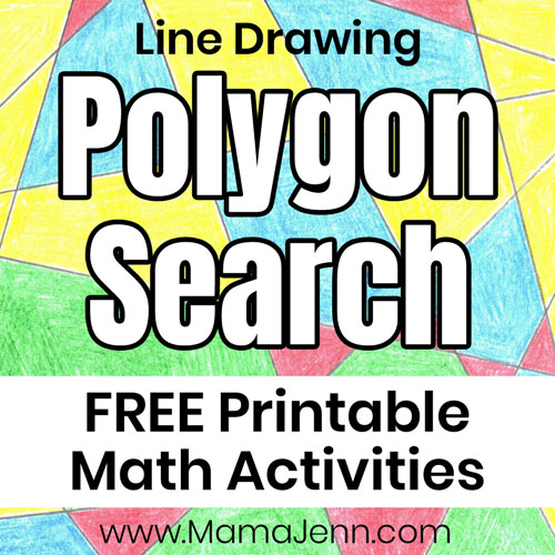 Polygon Search ~ Printable Math Art Activities