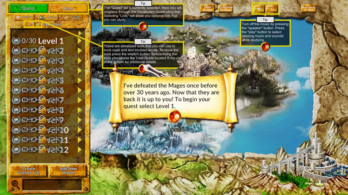 Vocabulary Quest Game More Instructions