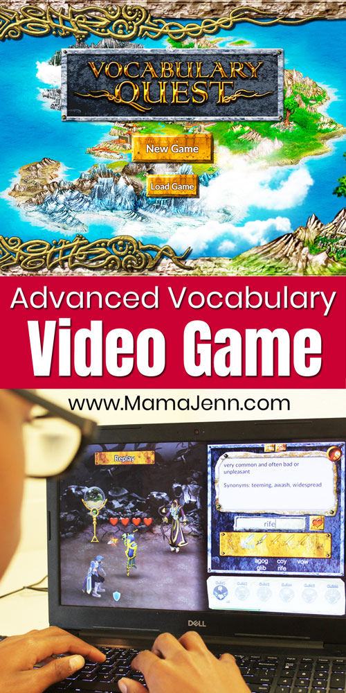boy playing Vocabulary Quest advanced vocabulary video game