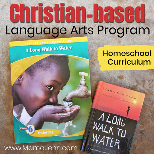 Christian Language Arts teacher lesson guide and the book A Long Walk to Water