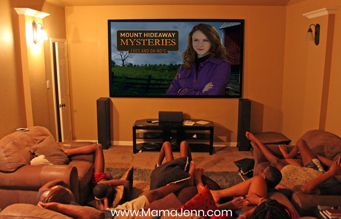 kids watching Mount Hideaway Mysteries Exes and Oh No's movie