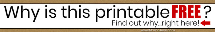 Why is this Printable Free?