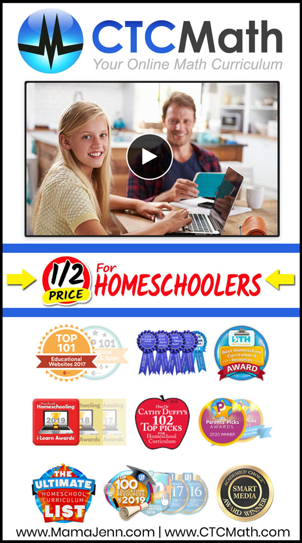 CTCMath Half Off for Homeschoolers Sale