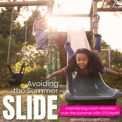 Avoiding the Summer Slide with CTCMath Homeschool Curriculum