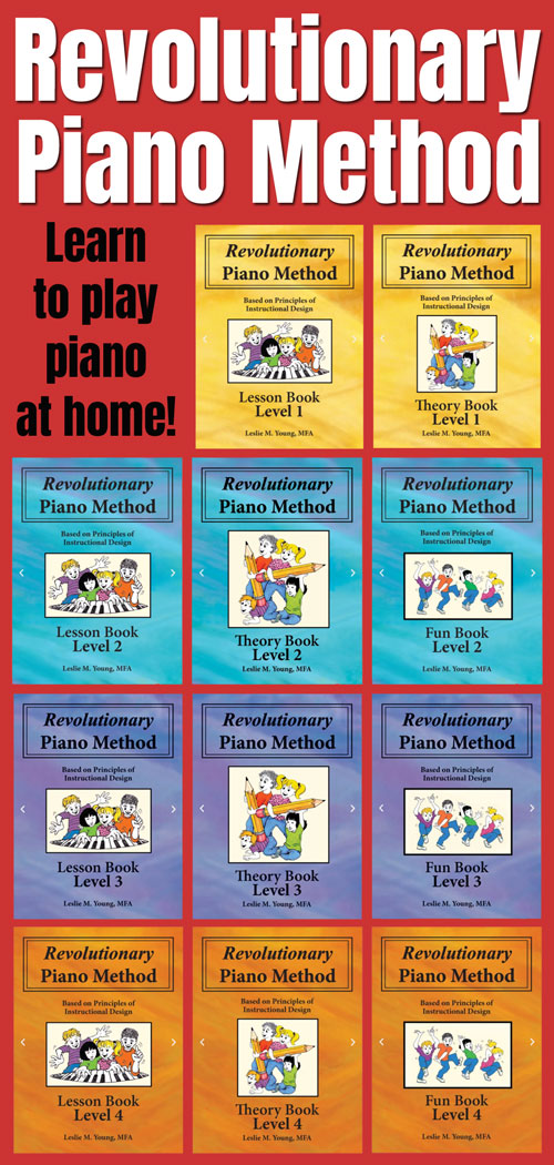 Revolutionary Piano Method books