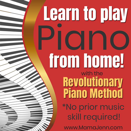 piano keys with text overlay Learn to play Piano from home with the Revolutionary Piano Method - No prior music skill required!
