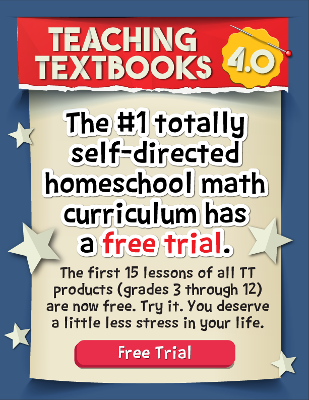 Teaching Textbooks Self Directed Learning Free Trial