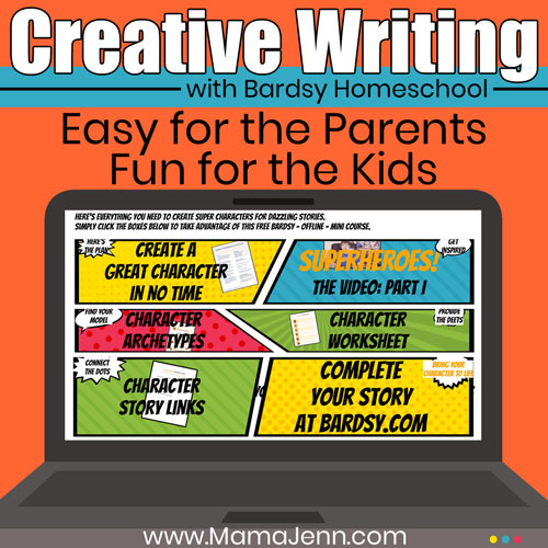 Teaching Creative Writing with Bardsy Homeschool