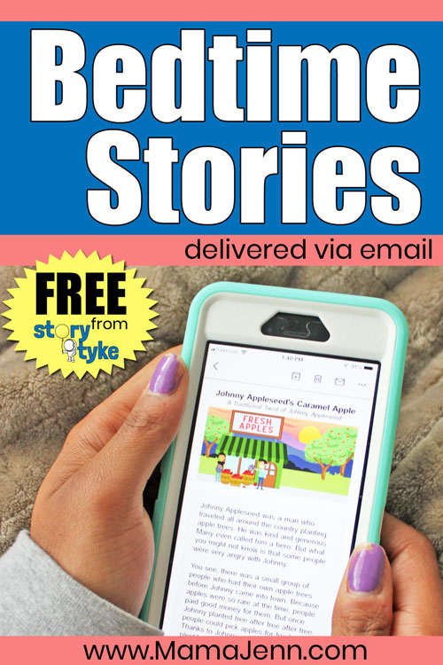 FREE Bedtime Stories for kids via Email