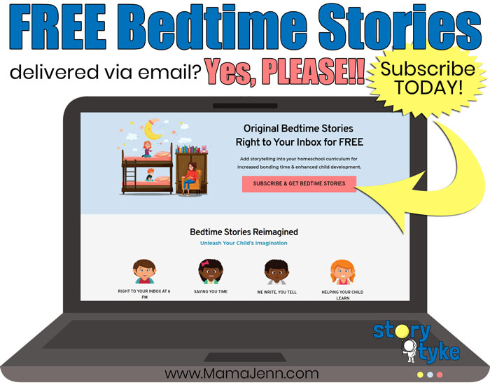 Subscribe for Free Bedtime Stories with Story Tyke