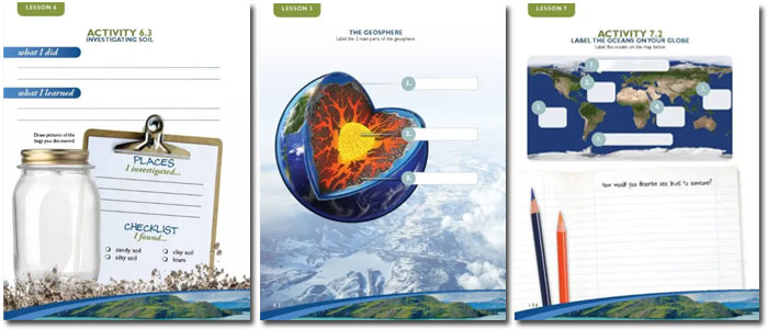Apologia Earth Science sample notebooking journal pages